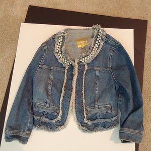 Womens M medium Princess Vera Wang jean jacket